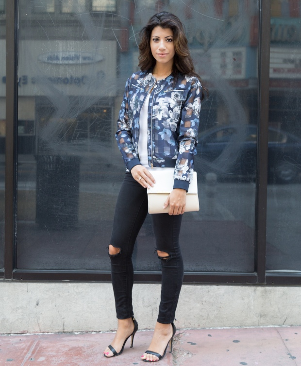 blue floral jacket – wear || WENS